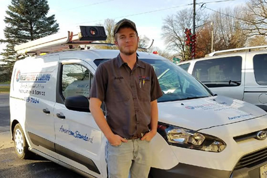 Austin from Kelso Heating & Cooling in St. Joseph Illinois