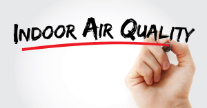 Hand written air quality on whiteboard