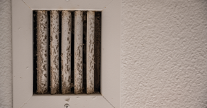A wall vent with mold